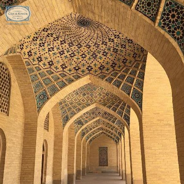The poetically designed blue tile & sandstone artwork of the Nasir ol Molk Mosque in Shiraz is just one of the many monuments around the cultural capital of Iran. #ExploreFourCorners