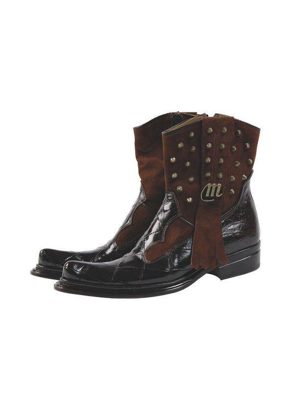 "Mauri - 7552 ""Apache"" Suede/Alligator Boot"