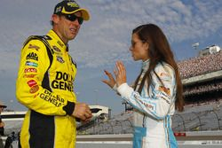 Matt Kenseth & Danica Patrick prior to qualifying for the Federated Auto Parts 400, Richmond Int'l Raceway, 9/9/16.
