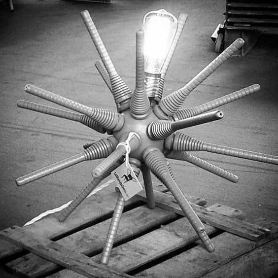 Sputnik spider lamp by La Shenda Deco #lashendadeco #sputniklamp #lampara #lamps #blackandwhitephotography #woodenbox #upcycled #interiorandhome #popupinspire #retro #eclecticdecor #edisonbulbs #eclecticinteriors #50sstyle #satalite #sputnik #retrostyle #oldwoodenbox #madeinbcn: