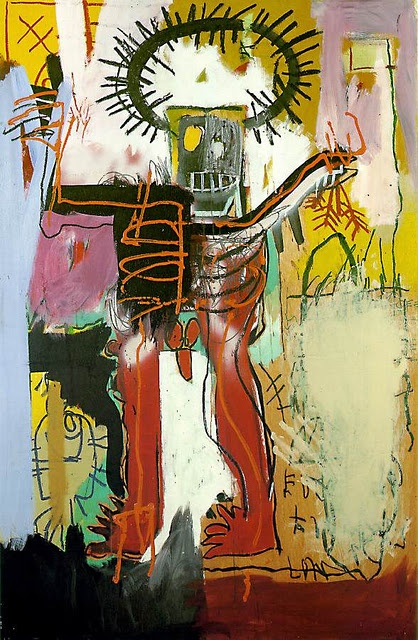 Jean Michel Basquiat's mother gave her son Gray's Anatomy to look at during a long childhood illness. The book's illustrations vividly influenced his later work.