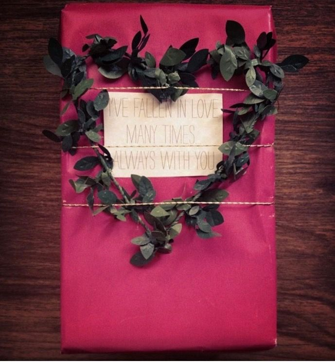 Valentine's Day wrapping