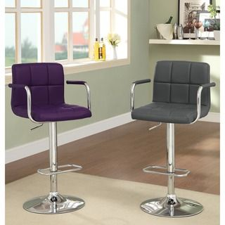 Purple Bar Stool / Faux Leather Barstool  $110