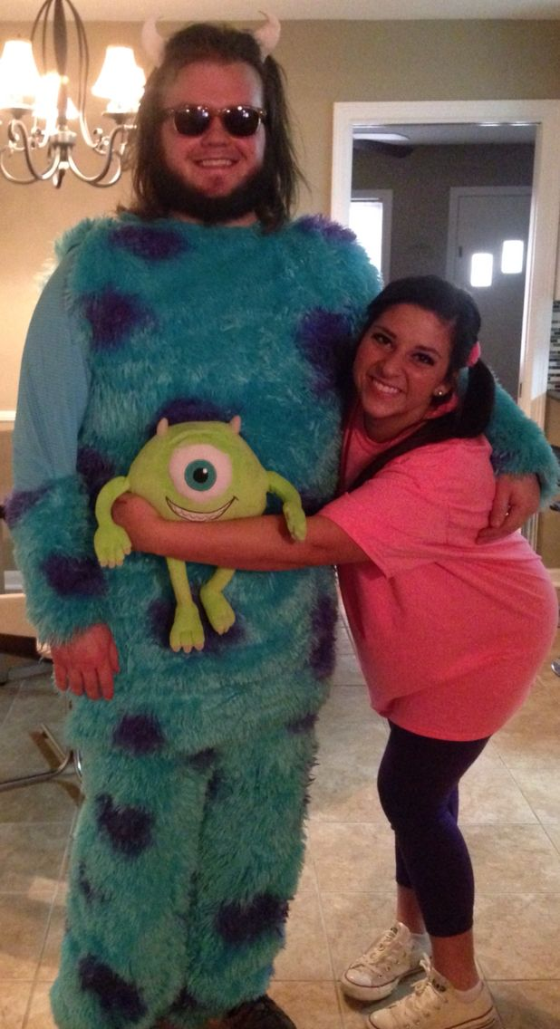 Monster's Inc. dynamic duo costume for a Mardi Gras ball! #DisneyBound #Costume #MonstersInc #disney
