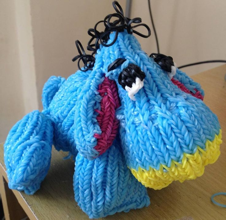 Awesome Eeyore Stuffed toy made from Rainbow Loom Bands - 12 Things Daily