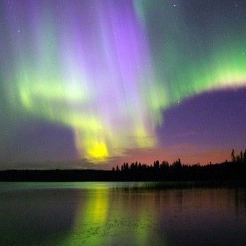 Northern Lights is a common name for the Aurora Borealis (Polar Aurorae) in the Northern Hemisphere.  @HalfMoonYoga