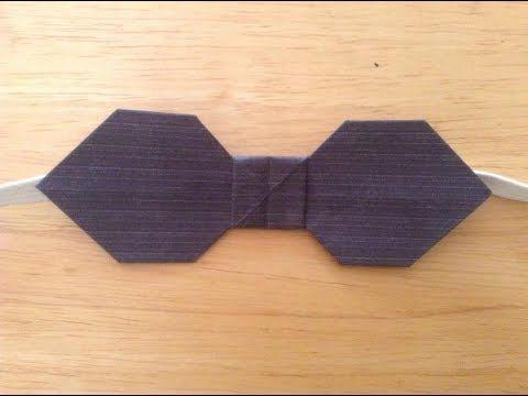 Aprende a hacer una corbata de papel!! - YouTube