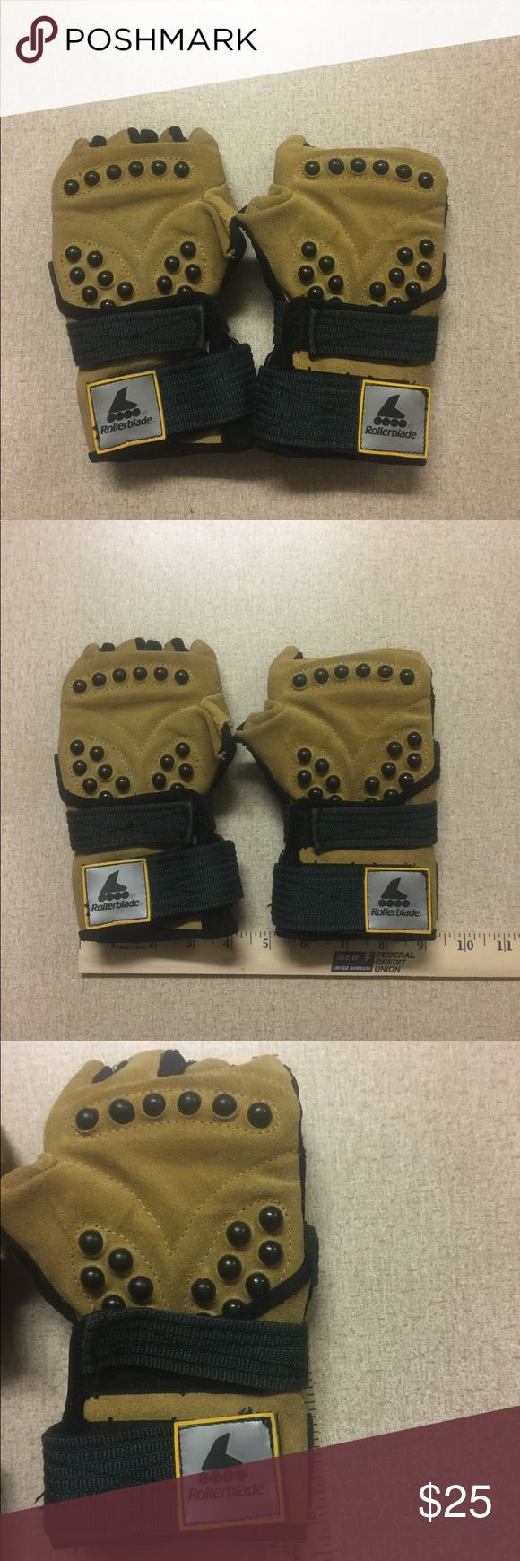 BNWOT Rollerblading Gloves Super protection Rollerblading gloves made by Rollerblade. Excellent condition please see pictures for details and ask about price reduction for discount shipping during closet clear out! Rollerblade Accessories Gloves