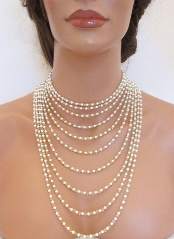 Argent Mesdames Mode Vintage Collier Pendentif En Cristal