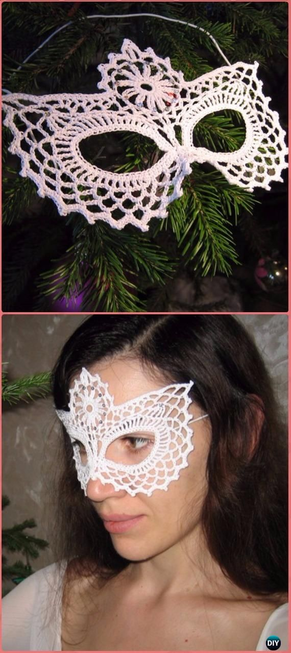 Crochet Lace Mask Free Chart Masquerade Beauty Crochet Eye Mask