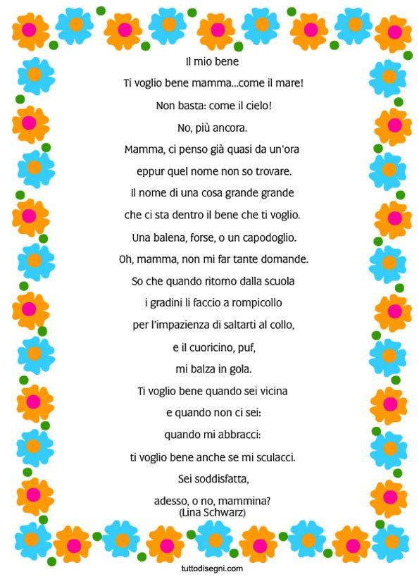 Festa della Mamma – Filastrocca con cornice