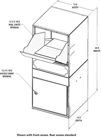 The large capacity dVault Parcel Protector Vault is great for homeowners and small businesses that need a large locking mailbox to securely store 2+ weeks of mail and packages. Approved by the USPS and featuring patented security features, this box provides owners with confidence that their mail is safe.