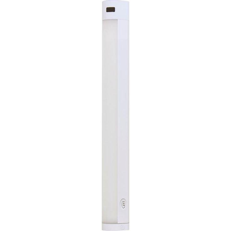 GE 18 in. LED Light Temperature Adjustable Motion-Sensing Bar Light, White