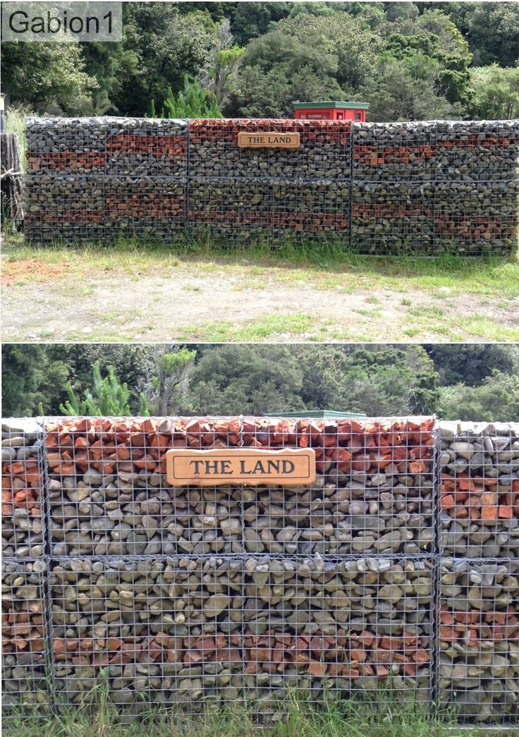 rock and brick filled gabion wall http://www.gabion1.co.nz