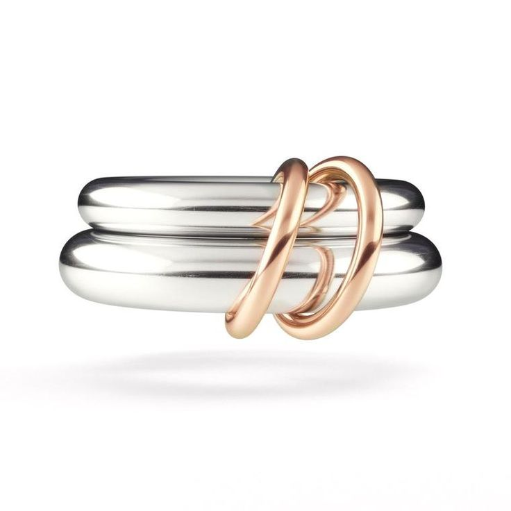 The Virgo, Spinelli Kilcollin's most popular wedding ring for men, is comprised of two linked rings of sterling silver, joined by 18-carat rose gold connectors. The wedding jewellery designer creating jewelry for both men and women on the big day in the most unusual and alternative ways: http://www.thejewelleryeditor.com/bridal/interview/spinelli-kilcollin-alternative-wedding-collection-cool-engagement-rings/ #jewelry