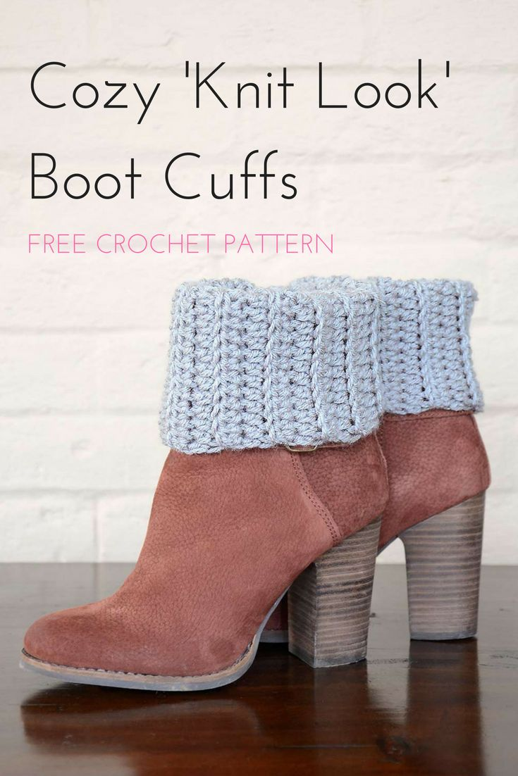 1840 best red heart patterns from bloggers images on pinterest free crochet boot cuff pattern these cozy ribbed crochet boot cuffs can be made so bankloansurffo Image collections