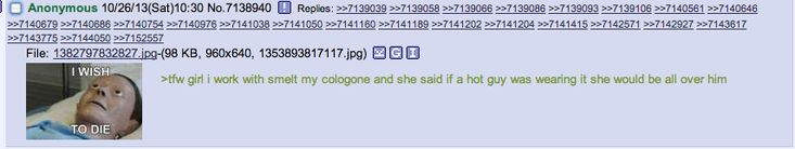 Anon wears cologne