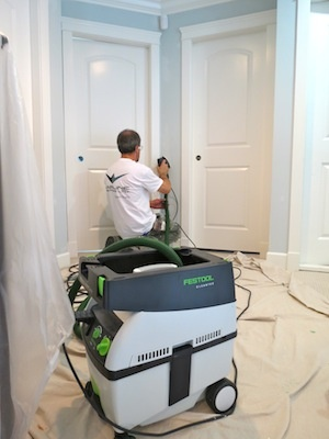 Festool MIDI Dust Extractor and the DTS 400 sander in full operation