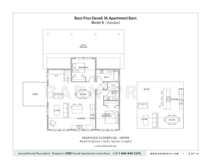 16 best barn plans w/ apartment images on Pinterest | Architecture ...
