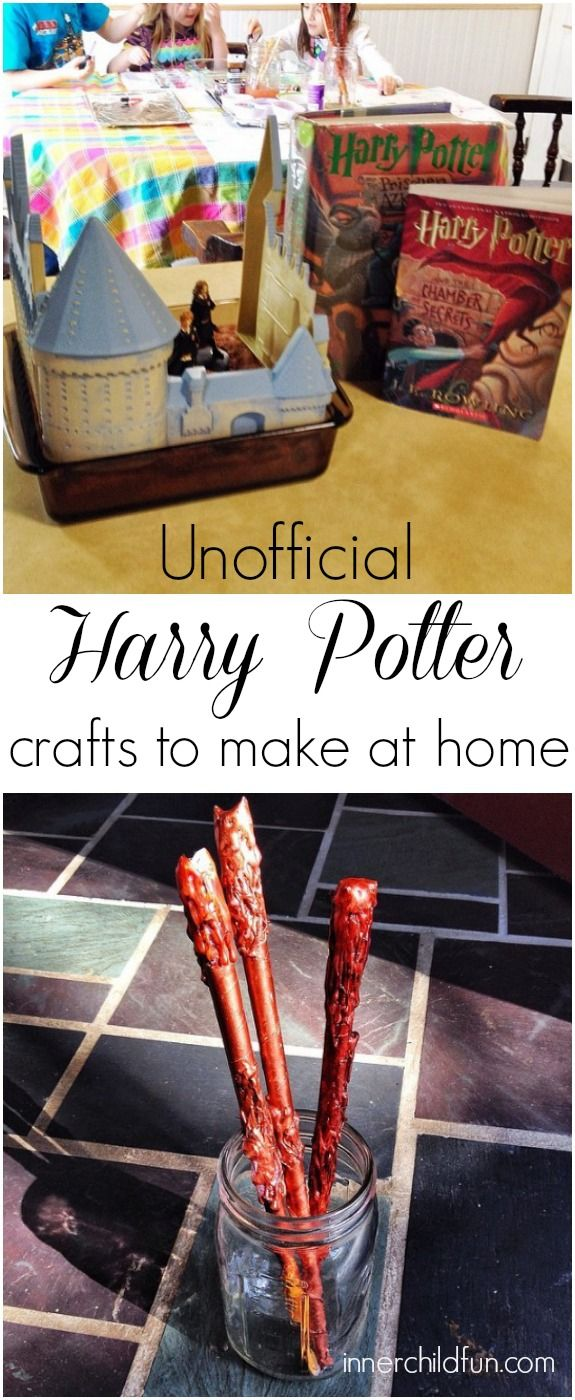 Harry Potter Crafts and Play Date Fun! - http://innerchildfun.com/2014/04/harry-potter-crafts-play-date-fun.html #kids