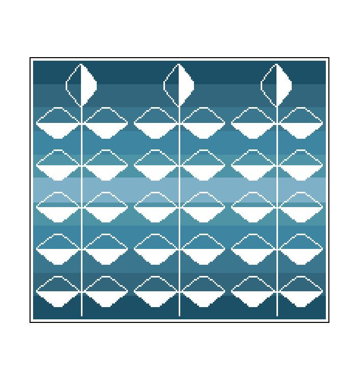 Modern cross stitch pattern contemporary negative
