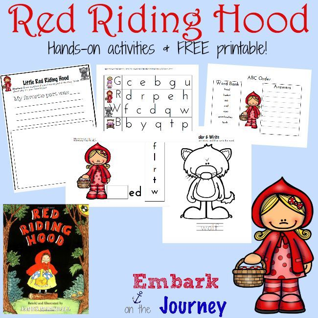 10 best images about LITTLE RED RIDING HOOD ACTIVITIES on ...