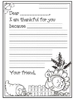 We are Thankful (Letter Writing) doing this with the whole family this year