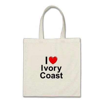 I Love Heart Ivory Coast Tote Bag - accessories accessory gift idea stylish unique custom