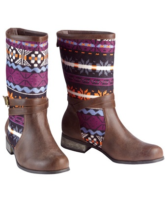 Joe Browns Funky Native Boots - fabulously funky boots, the perfect way to jazz up any Winter outfit!