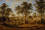 Natives on the Ouse River, Van Diemen's Land, (1838) by John Glover :: The Collection :: Art Gallery NSW