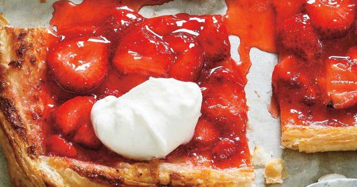Tarte rapide aux fraises à 5 ingrédients Recettes   Ricardo