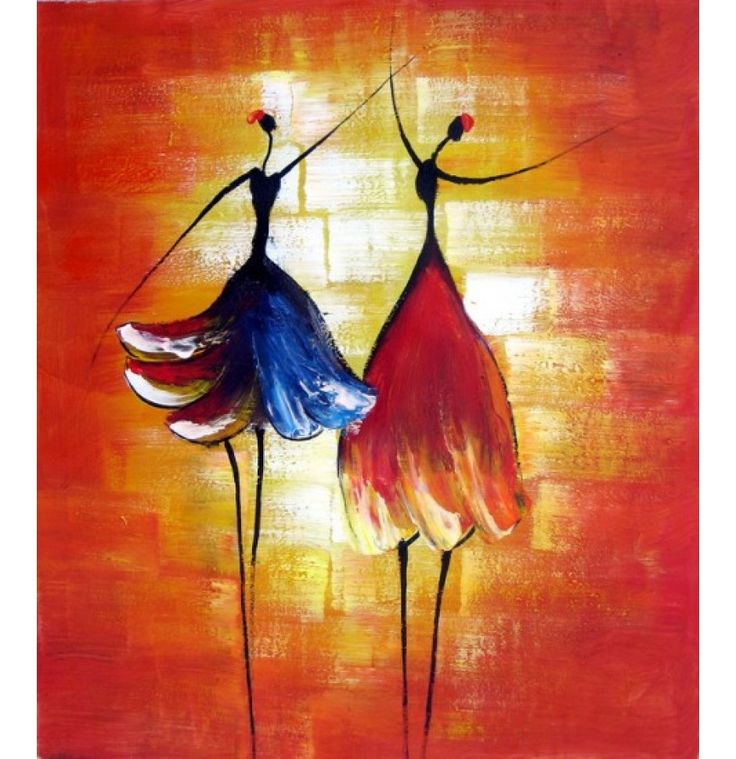 "Dance with Me Oil Painting H 36 "" x W 24"