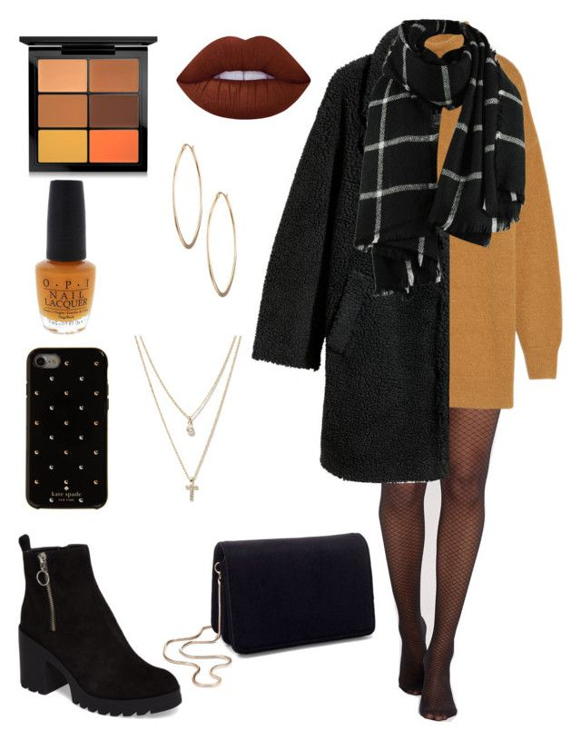 """""""Unbenannt #14"""" by pia-e on Polyvore featuring Mode, BP., H&M, Miss Selfridge, Kate Spade, LOFT, MAC Cosmetics, Lime Crime, OPI und Lydell NYC"""