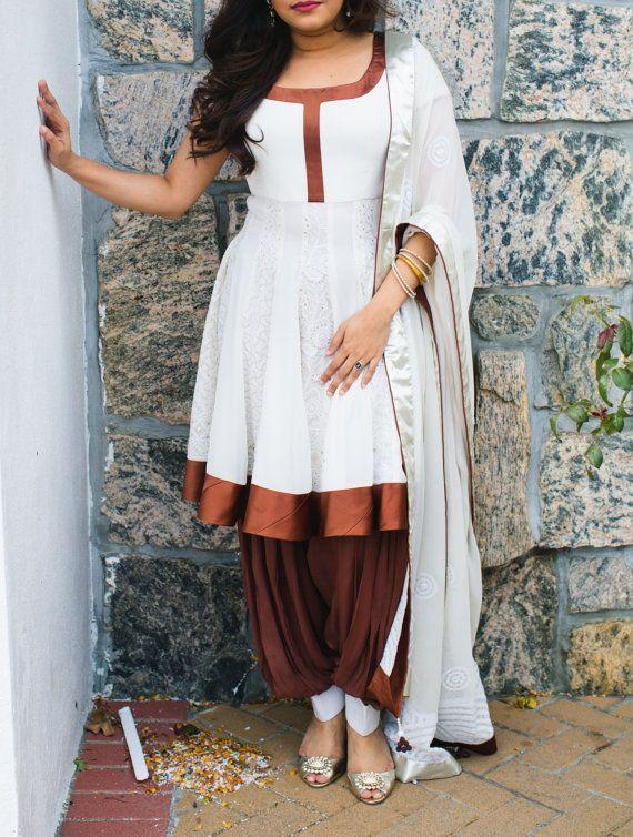 Patiala salwar georgette fabricshirt chikan emd by VastraClothing