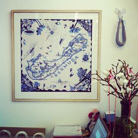 My Pear Tree House: Blue and White Scarves!! Great idea for wall art!!
