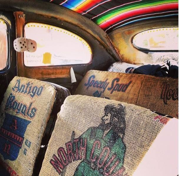 Awesome. The inside of a VW Beatle.