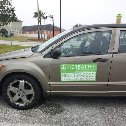 Mi nuevo #letrero de #herbalife #Herbalife24en #Orlando , #davenport , #lakeland #clermont #florida #fl #usa #  para el #carro, para ayudar la #nutrición de las #personas y a #ganar #dinero