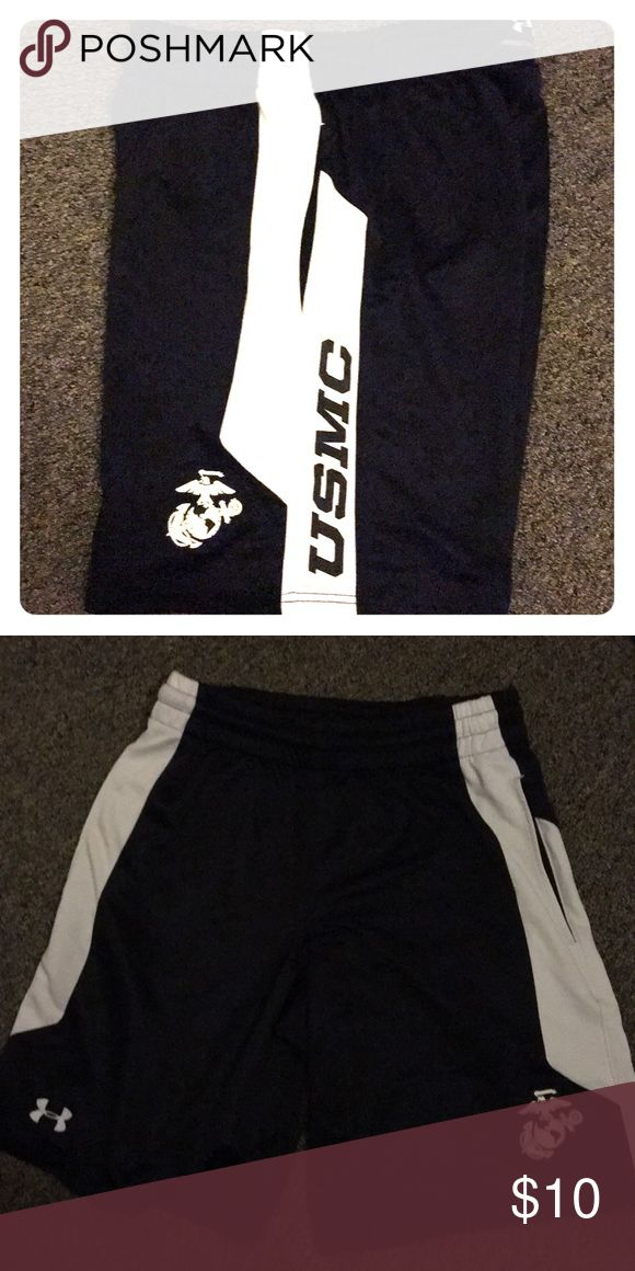 Under armer USMC basketball shorts USMC women's Under Armour black and white basketball shorts Under Armour Shorts