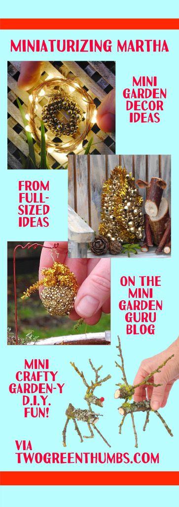 Mini DIY Decor from the Mini Garden Guru blog and TwoGreenThumbs.com!
