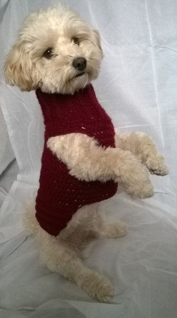 dog sweater handmade dog sweater dog sweater by HappyDogLucky