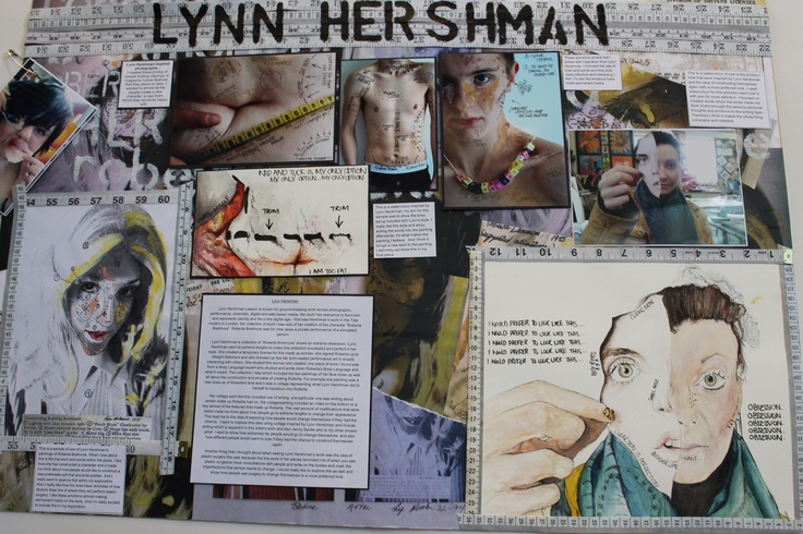 Artist research with integration of images and text