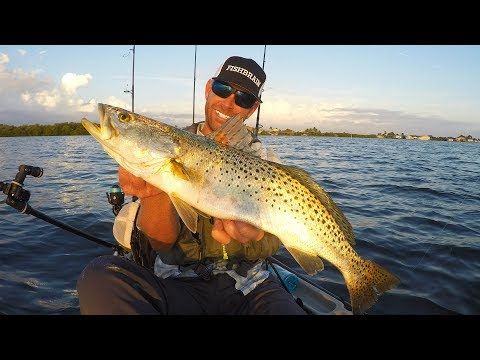 (2) Kayak Fishing: Speckled Trout, Grouper & Spanish Mackerel | Mystery Tackle Box - YouTube