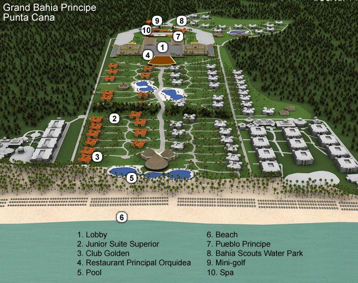 Bahia Map Bavaro Can Principe Punta Gran Resort