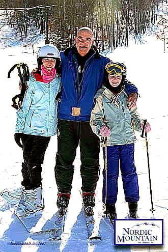 2007 Elli, Harper and me on the hill: 2007 Ellie