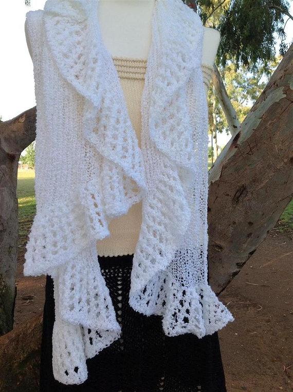 How To Make Ruffle Knit Shawl Knit Shawl PDF by ettygeller on Etsy, $3.99
