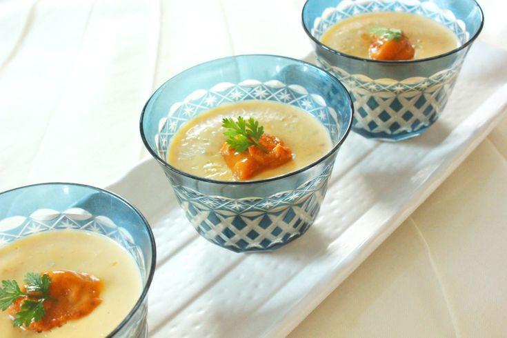 うにのアレンジレシピ 濃厚うにで作るクリーミームースの前菜 - お魚レシピ.com