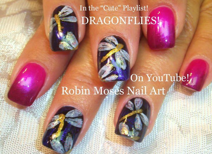 Easy Nail Art Design - DIY Dragonfly Nail Art Tutorial