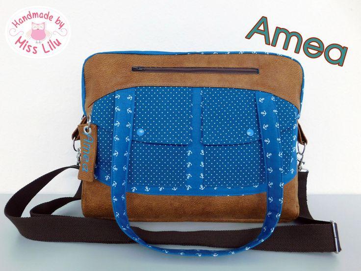 Nähanleitungen Taschen - Ebook Amea - ein Designerstück von Handmade-by-Miss-LiLu bei DaWanda