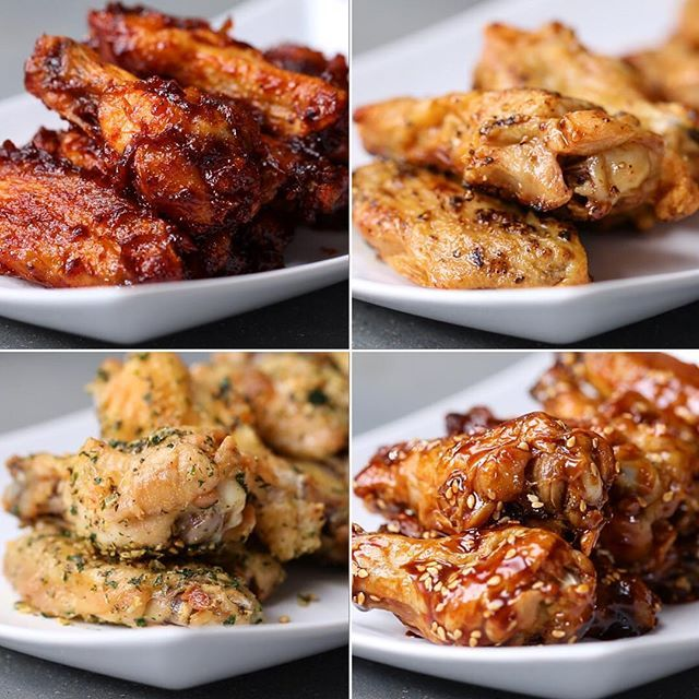 Oven-Baked Chicken Wings 4 Ways Serves 1-2 Baked Chicken Wings INGREDIENTS 1½…