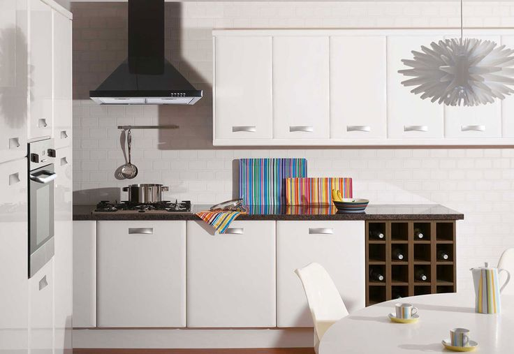 Academy Genoa Kitchen in White Gloss. Also available in Oyster.